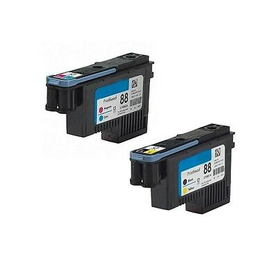 2 Pack Printhead For HP 88 CA9381A CA9382A For C9381A K5300 K8600 L7380 Printer