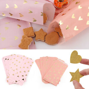 Biscuit-Heart-Shape-Candy-Pockets-Cookie-Bags-Kraft-Paper-Bag-Packaging-Pouch