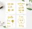 Hospital Birth Announcement photo signs 4 Newborn Milestone Cards in Gold Foil