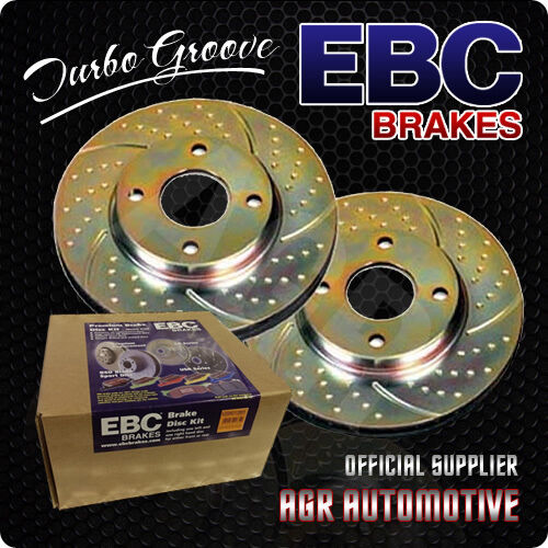 EBC TURBO GROOVE REAR DISCS GD804 FOR HONDA CIVIC CRX DEL SOL 1.6 VTI 1992-95