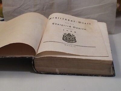 Temperamentvoll KÖniglich Bairisches Regierungsblatt 1832