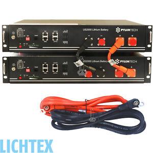 2x-PYLONTECH-US2000-Plus-LiFePO4-48V-4-8kWh-Lithium-Photovoltaik-Speicher-System