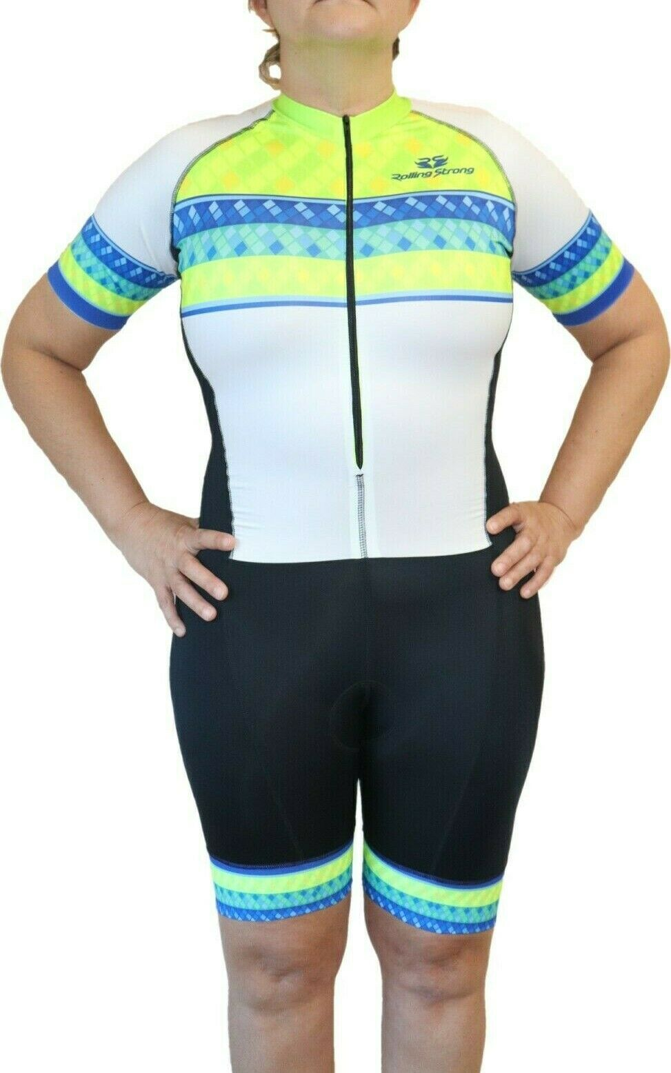 Cycling uniform women  M White Skinsuit. Rolling Strong LAFTECH  sale online save 70%