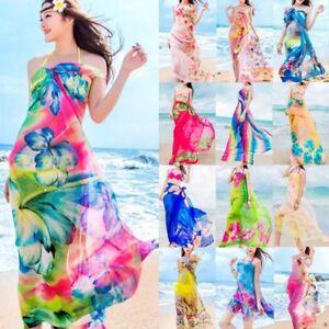 85ec1bc7e7 Women Beach Bikini Cover Up Wrap Scarf Pareo Swimwear Sarong Dress ...