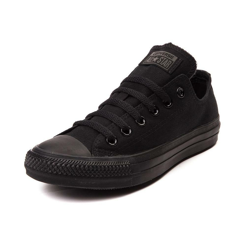 CONVERSE Unisex Sneakers Chuck Taylor All Star Low All Black Athletic M5039 NEW