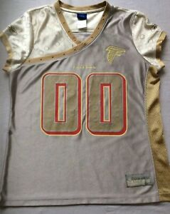 release date: 1f0f1 2730e Details about Atlanta Falcons #00 NFL Silver Gold Alloy Women's Fashion  Reebok Jersey - L NWOT