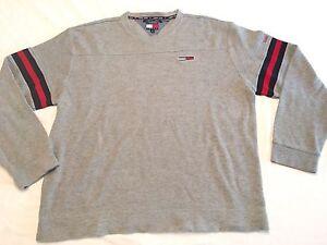 b7821f4a5 Vintage Tommy Hilfiger Tommy Jeans L/S Crew Neck Pullover Shirt Men ...