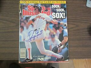 Dwight-Evans-Autograph-Signed-Sport-illustrated-9-26-88-Boston-Red-Sox