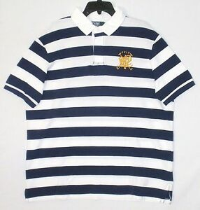 6be849bb NWT MSRP $125 POLO RALPH LAUREN Men's BIG LOGO Rugby S/S Stripes ...