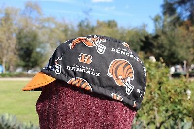 CYCLING CAP NFL NEW ORLEANS SAINTS    100/% COTTON HANDMADE IN USA S//M//L