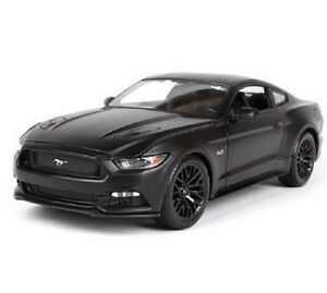 Maisto-1-18-2015-Ford-Mustang-GT-Diecast-Model-Sports-Racing-Car-Vehicle-Black