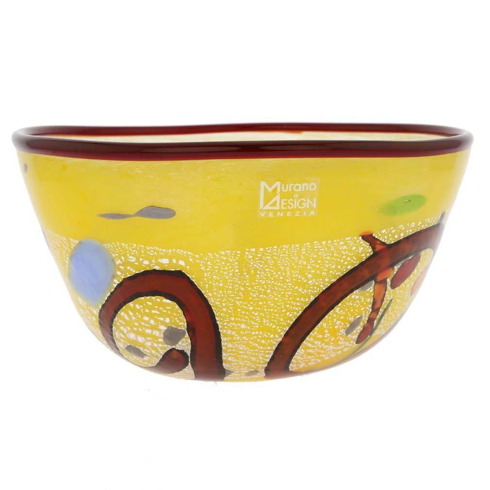 GlassOfVenice Murano Glass Modern Art Bowl Bowl Bowl - Gelb 23137f