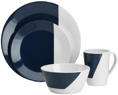 16pc Complete Melamine Dinner Set Outdoor Camping Fishing Family Dining Crockery