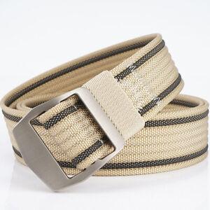 "1.5/"" Mens Nylon Web Belt Double Ring Buckle Lightweight Trousers Belts 10 Colors"