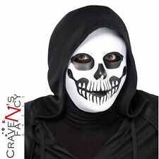 Black and Bone Horror Skull Mask Skeleton Mens Halloween Fancy Dress Accessory
