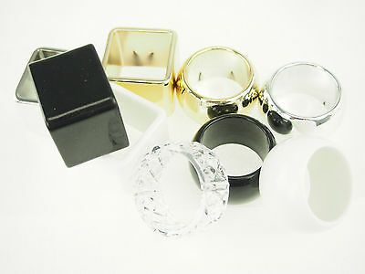 napkin holder wedding ring metallic gold silver white