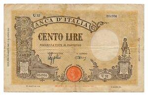 ITALY banknote 100 Lire 23.8.1943. VF