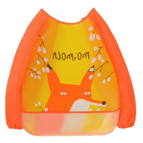 Toddler Kids Long Sleeve Bib Art Apron Smock Feeding Baby Bibs Waterproof