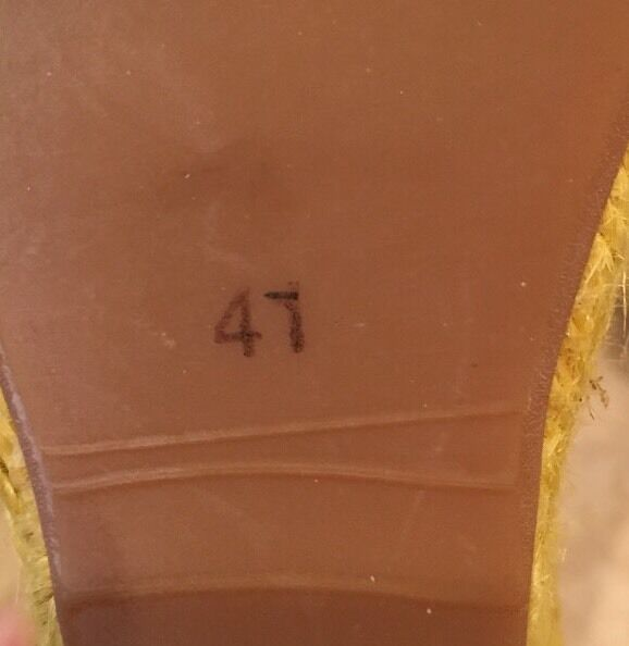 Burberry Amarillo blancoo Lona Alpargata Cuña al de Tobillo Lazo de la cinta de al RAFIA 41EU 10.5M 16d541