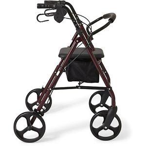 new rollator 8 casters rolling walker senior walker with padded