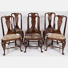 A Set of Six Queen Anne Style Mahogany Dining Chairs, 20th Century. Lot 283