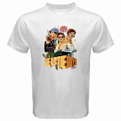 New BEASTIE BOYS Rap Hip Hop *LISENCE TO ILL Men/'s White T-Shirt Size S-3XL