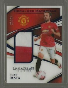 2020 Panini Immaculate Collection Soccer Juan Mata Heralded Patch Sapphire 21/25