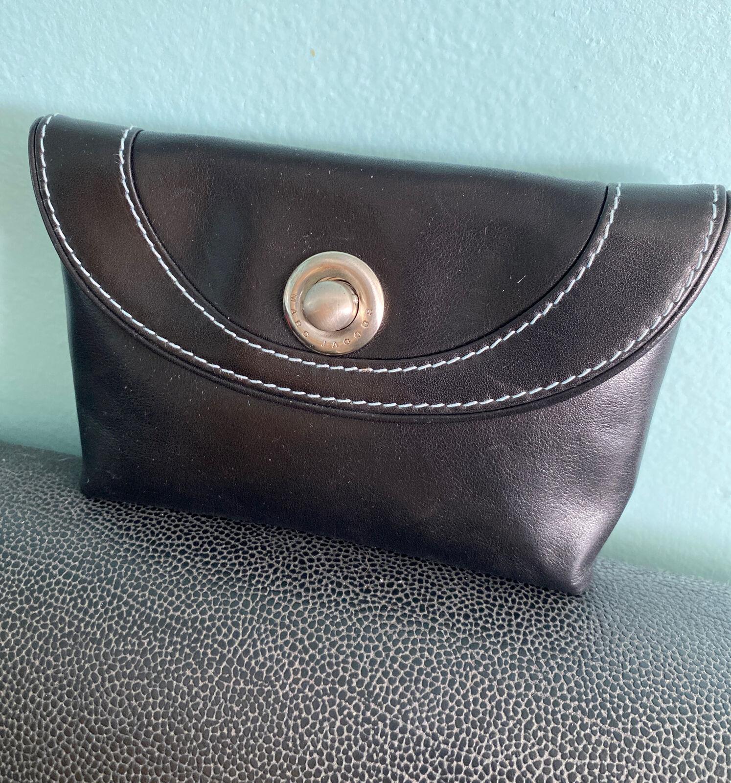 Marc Jacobs Leather Mini Clutch/Wallet — Black