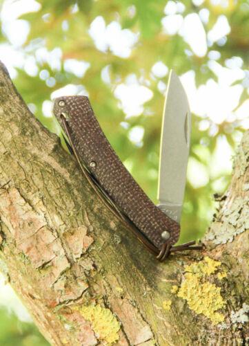 Fox Knives NAUTA Micarta Bison Slip Joint Messer 420C Stahl 01FX879