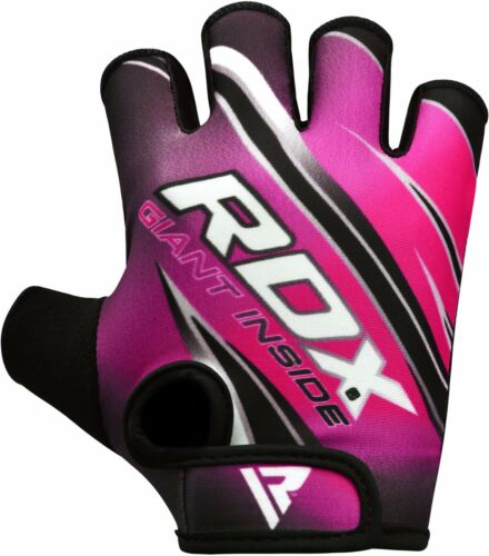 RDX Women Weight Lifting Gym Gloves Ladies Body Building Training Fitness Pink