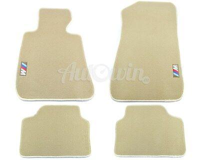 BMW 3 Series E90/E91 E90LCI/E91LCI Beige gulvmatter med /// M Emblem 2005-2012