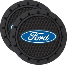 Official Licensed Ford Logo Cup Holder Coaster Universal 2pc Set