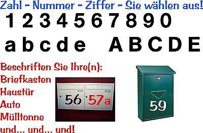 Aufkleber Sticker Tattoo - Zahl/ Ziffer In 12cm Höhe Glänzende Folie-artikel 406