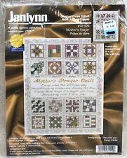 2001 Janlynn Mother's Prayer Counted Cross Stitch Kit 15x18 Quilt Sampler