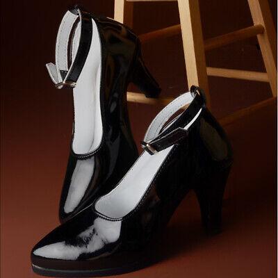 Basic Shoes Dollmore 1//3 BJD SD Enamel Black Shoes high heels