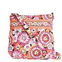 Vera Bradley Triple Zip Hipster Crossbody In Pixie Blooms