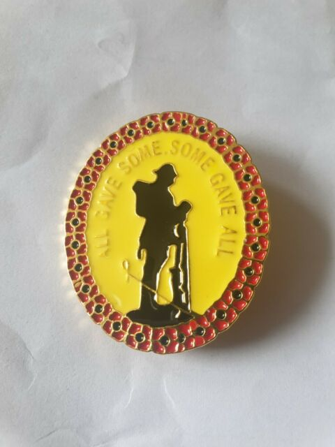 Womans Mens Poppy All Gave Some, Some Gave All brooch badge pin soldier uk New