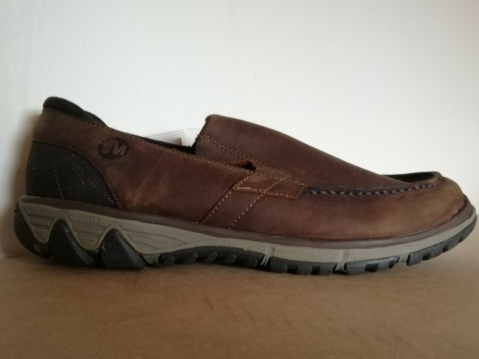 MERRELL ALL OUT BLAZER MOC MENS WALKING CASUAL LEATHER schuhe braun UK 8.5 US 9
