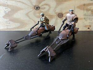 Star-Wars-POTF-Speeder-Bike-Set-of-2-Luke-amp-Leia-Endor-loose