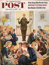 1957 Saturday Evening Post February 23-Bloomington IN; Worthington MA; Miami Bch