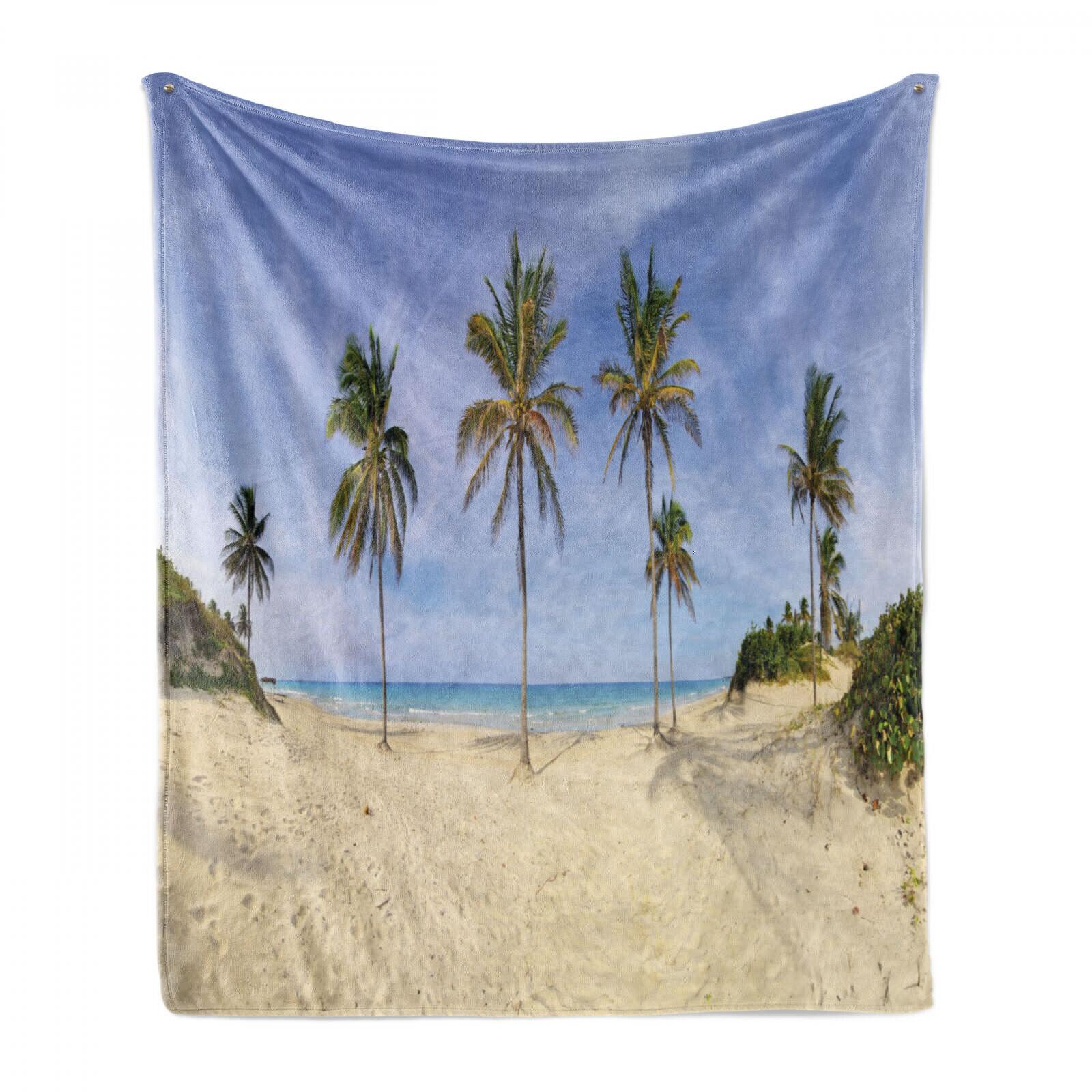 Nature Scene Weich Flanell Fleece Decke Cuban Strand-Panorama
