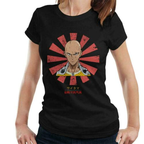 Saitama Retro Japanese One Punch Man Women/'s T-Shirt