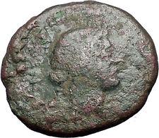 MARK ANTONY & OCTAVIAN Augustus TRIUMVIRS Thessalonica Ancient Roman Coin i55644