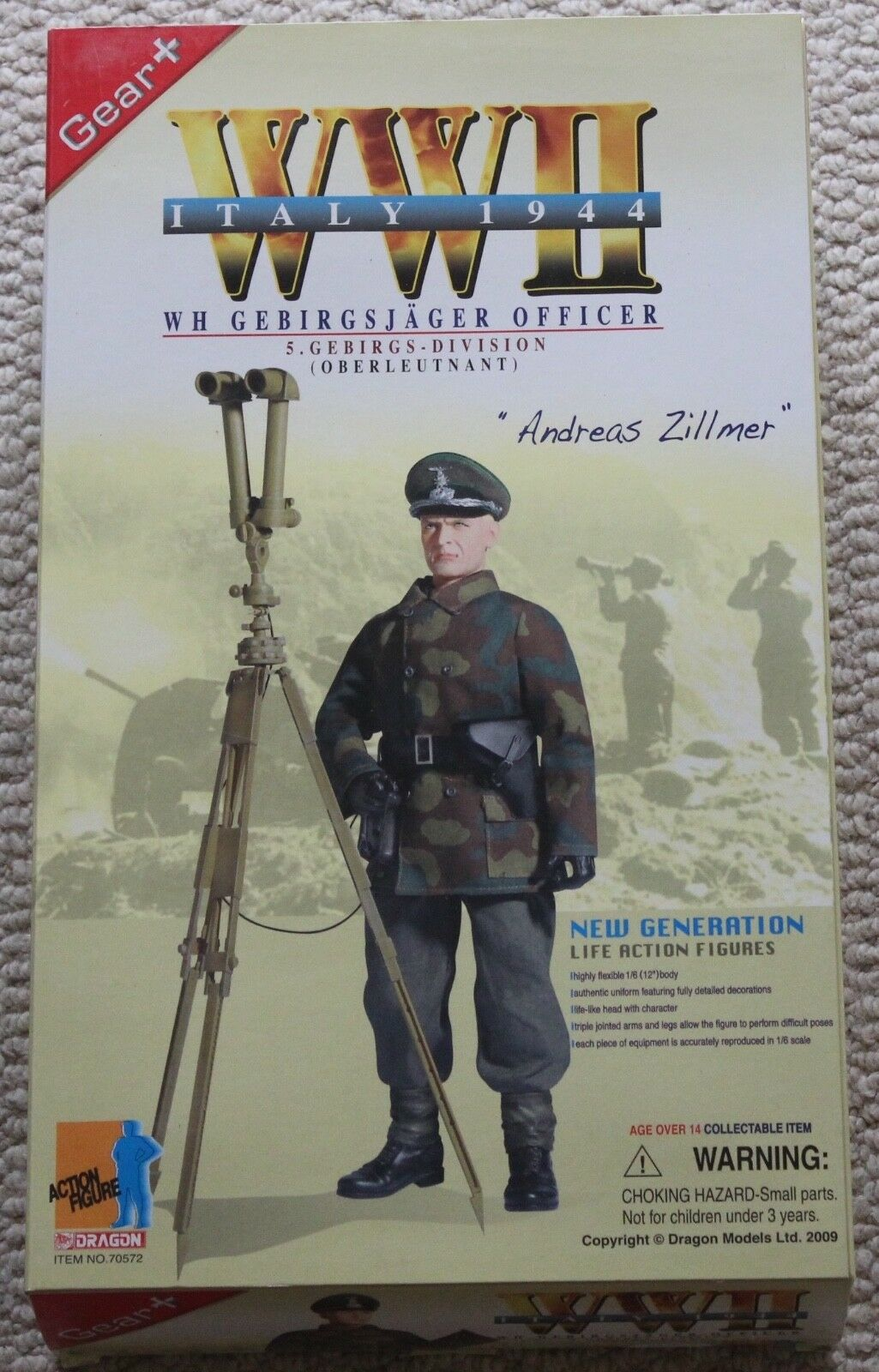 Dragon action figure ww11 german andreas  1 6 12'' 70572 did cyber hot toy