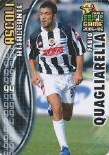 N°008 FABIO QUAGLIARELLA # ITALIA ASCOLI CARD PANINI CALCIO 2006