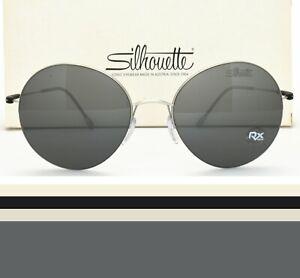 Silhouette Round Half Rimless Sunglasses Rx-able 8685 40 6220 Prescription Ready