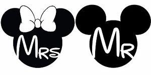 mr and mrs mr   mrs wedding mickey minnie vinyl sticker minnie mouse head clip art free minnie mouse ears clip art free