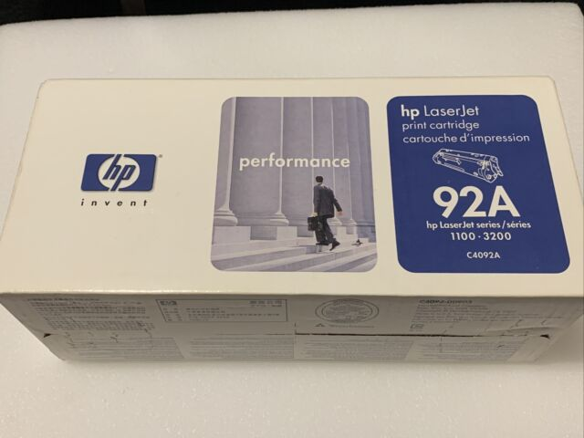 New Sealed Box Genuine OEM HP LaserJet 92A C4092A Black Toner Cartridge