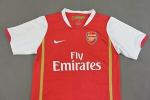 221a60ee3 2006-08 NIKE Arsenal FC GUNNERS Official Home Shirt SIZE Youth M