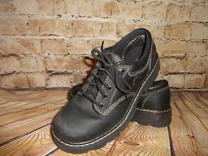 5 Femmes Ups Chaussures Skechers Pour Richelieus Cuir 45120 8 Noir Sz En qUX1XA